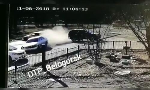 В Белогорске в жестком ДТП столкнулись два «Марка 2» и «Аллион»