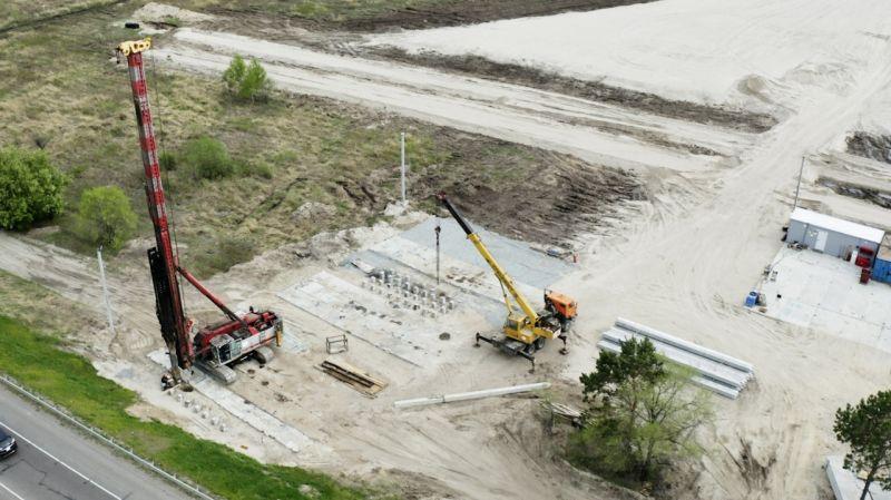 Для нового моста через Зею в Благовещенске начали возводить путепровод