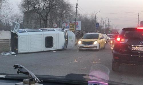В Благовещенске в ДТП попал автомобиль для перевозки людей с ограниченными возможностями здоровья